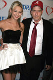 Charlie Sheen,Natalie Kenly Stock Images
