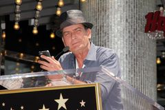 Charlie Sheen. At Slash Honored with a Star on the Hollywood Walk of Fame, Hollywood, CA 07-10-12 Stock Images