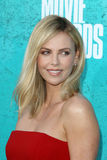 Charlize Theron arriving at the 2012 MTV Movie Awards Royalty Free Stock Photo