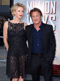 Charlize Theron e Sean Penn Immagine Stock Libera da Diritti