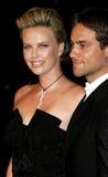 Charlize Theron en Stuart Townsend Royalty-vrije Stock Foto's