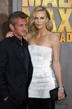 Charlize Theron and Sean Penn royalty free stock photography