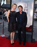 Charlize Theron and Sean Penn Royalty Free Stock Images