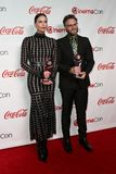Charlize Theron, Seth Rogen imagens de stock