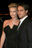 Charlize Theron and Stuart Townsend Stock Images