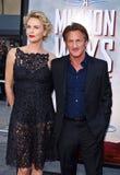 Charlize Theron und Sean Penn Lizenzfreie Stockbilder