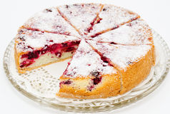 вишня charlotte торта Стоковые Изображения RF