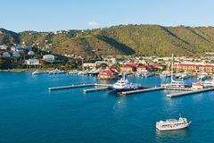 Charlotte Amalie. Looking out at Charlotte Amalie, St. Thomas, Virgin Islands Royalty Free Stock Photos