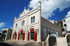 Charlotte Amalie Cathedral Stock Photo