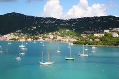 Charlotte Amalie-cruisehaven, St Thomas USVI Stock Foto