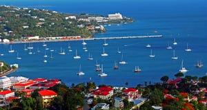 Charlotte Amalie Harbor fotos de archivo libres de regalías