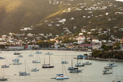 Charlotte Amalie and harbor Stock Photo