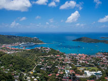 Charlotte Amalie panoramiczny widok Obraz Royalty Free