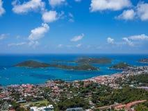 Charlotte Amalie panoramiczny widok Obrazy Royalty Free