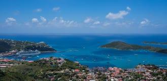 Charlotte Amalie panoramiczny widok Zdjęcie Stock