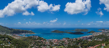 Charlotte Amalie panoramiczny widok Obrazy Stock
