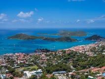 Charlotte Amalie panoramiczny widok Obraz Stock