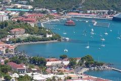 Charlotte Amalie, rue Thomas, USVI Photographie stock libre de droits