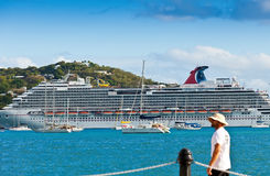 Carnival Dream in St. Thomas, USVI Royalty Free Stock Images