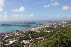 Charlotte Amalie, St. Thomas, USV. A view of Charlotte Amalie, on the Caribbean island of St. Thomas, US Virgin Islands Royalty Free Stock Photo