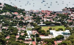 Charlotte Amalie St Thomas van hierboven Stock Afbeelding