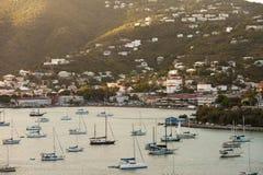 Charlotte Amalie y puerto Foto de archivo