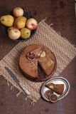 Charlotte with apples and cinnamon Royalty Free Stock Images