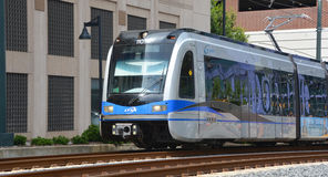 Charlotte Area Transit System. CHARLOTTE NC USA 06 24 2016: LYNX Blue Line of The Charlotte Area Transit System, commonly referred to as CATS, is the public royalty free stock photo