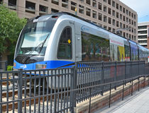 Charlotte Area Transit System. CHARLOTTE NC USA 06 24 2016: LYNX Blue Line of The Charlotte Area Transit System, commonly referred to as CATS, is the public stock photo