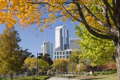 Charlotte in Autumn. Charlotte, North Carolina in Autumn stock image