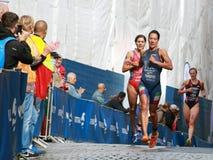 Charlotte Bonin i Karolina Routier bieg Zdjęcie Royalty Free
