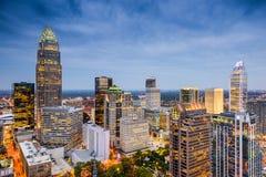 Charlotte Carolina del Norte Skline Imágenes de archivo libres de regalías