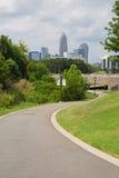 Charlotte carolina miejsca przeznaczenia mapy pokazujące push stara północnej pin podróży Zdjęcia Royalty Free