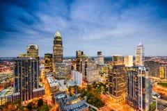 Charlotte, Carolina Skyline del nord Fotografia Stock Libera da Diritti