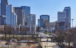 Charlotte, Carolina Skyline del nord Fotografie Stock Libere da Diritti