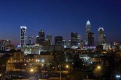 Charlotte, Carolina Skyline del nord immagine stock