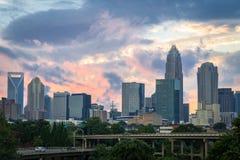 Charlotte, Carolina Sunset del norte 2 Foto de archivo libre de regalías