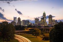 Charlotte, Carolina Sunset du nord 5 Image stock