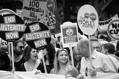 Charlotte Church and Diane Abbott at the Austerity Demonstration  20th June 2015 Stock Photos