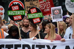 Charlotte Church and Diane Abbott at the Austerity Demonstration  20th June 2015 Royalty Free Stock Image