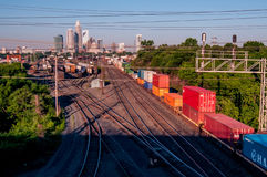 Charlotte city skyline Royalty Free Stock Photos