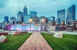Charlotte city skyline Stock Photos