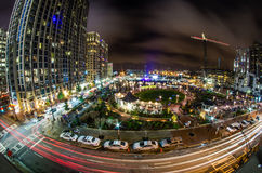 Charlotte city skyline at night Royalty Free Stock Photography