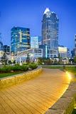 Charlotte city skyline north carolina early morning Stock Images