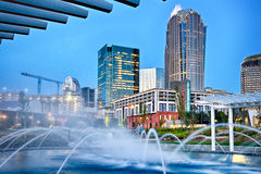 Charlotte city skyline north carolina early morning Royalty Free Stock Photos