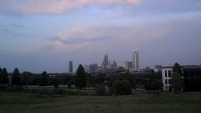 Charlotte city skyline stock footage