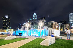 Charlotte city skyline Royalty Free Stock Photography
