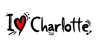 Charlotte city of USA love message. Creative design of love city message Stock Photography
