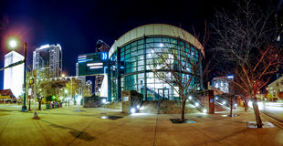 Charlotte convention center. At night royalty free stock photography