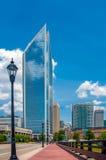 Charlotte da parte alta da cidade, Carolina Cityscape norte Imagens de Stock Royalty Free
